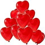 ハート風船 赤 20個 誕生日会や、結婚式、バースデーパーティー、ウェディング (ハート型バルーン20個)(wq-01)