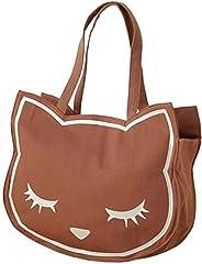 アディクト 猫のトートバッグ おすましプーちゃん キャンバストート ブラウン P131019-24