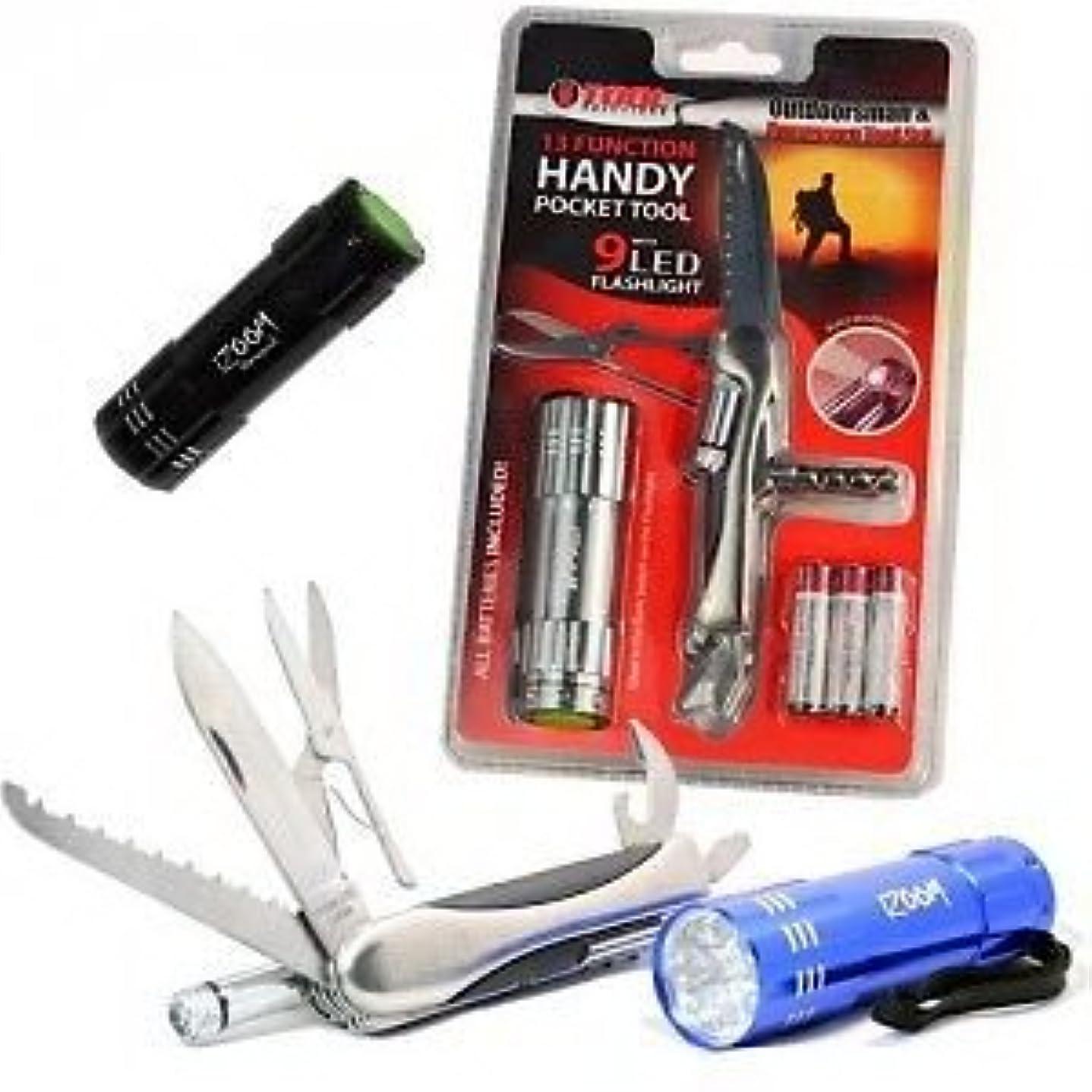 として大破ネズミGearXS Tool Solutions 13-Function Handy Pocket Tool With 9 LED Flashlight by GearXS
