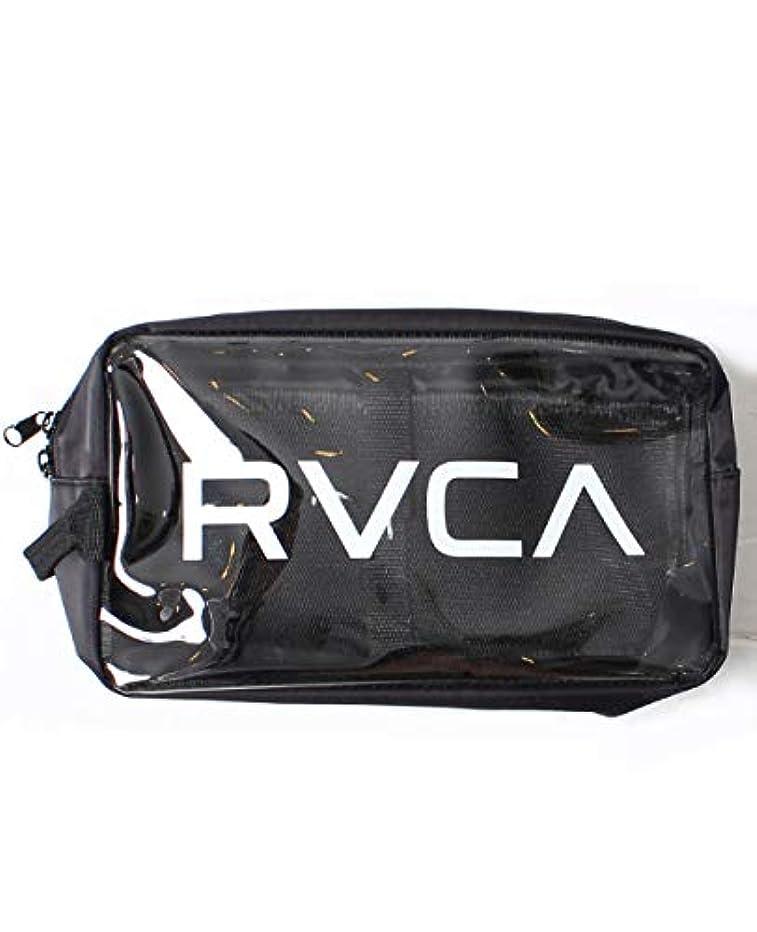 自然真向こう不忠RVCA ルーカ クリアポーチ バッグインバッグ フェス メンズ レディース かばん 化粧ポーチ ストリート AJ041-M91