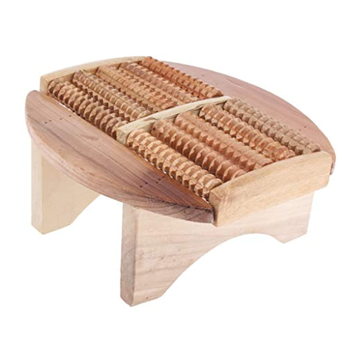 ひねくれた東閲覧するBaoblaze フットマッサージスツール 木製 足湯ステップ マッサージ スツール SPA