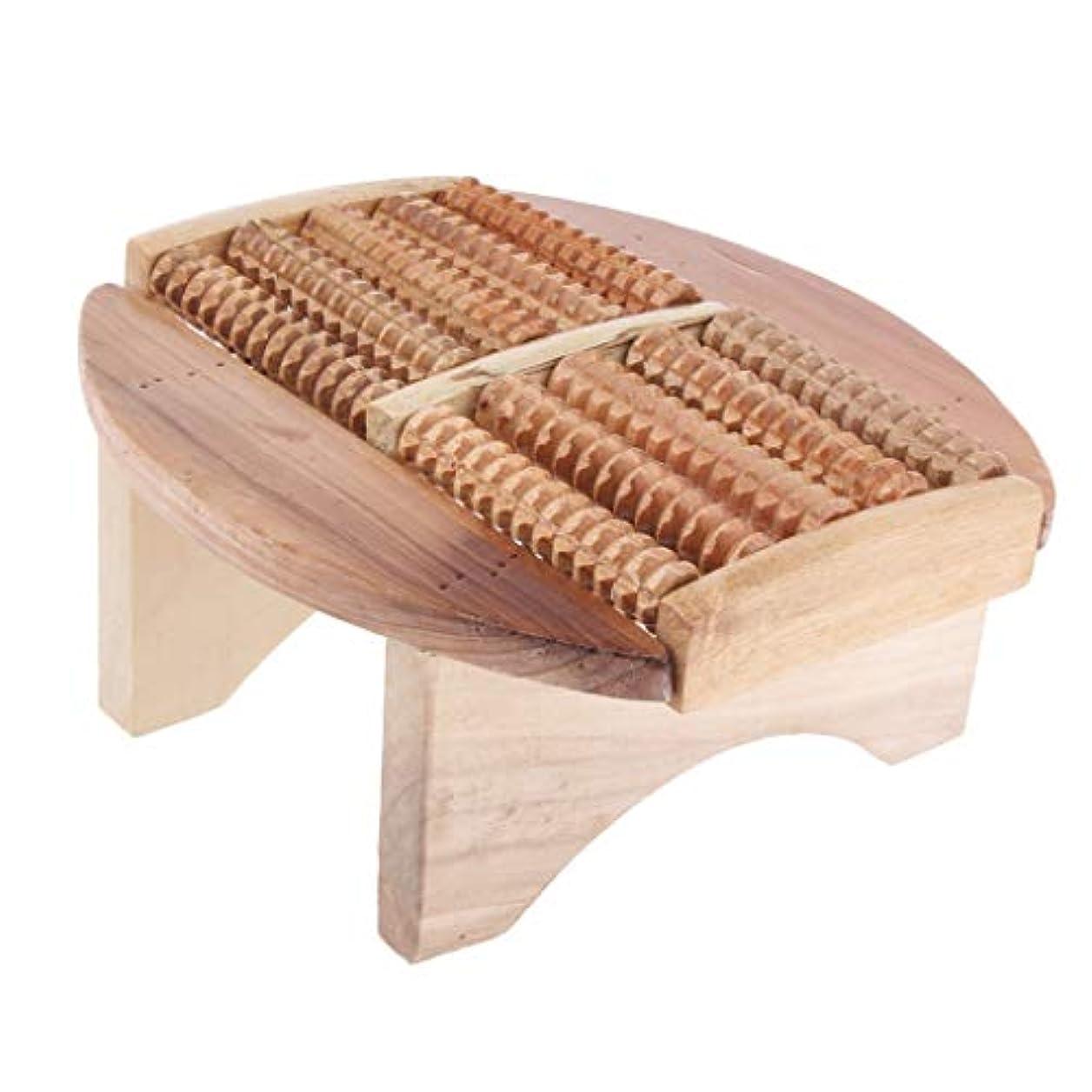 Baoblaze フットマッサージスツール 木製 足湯ステップ マッサージ スツール SPA