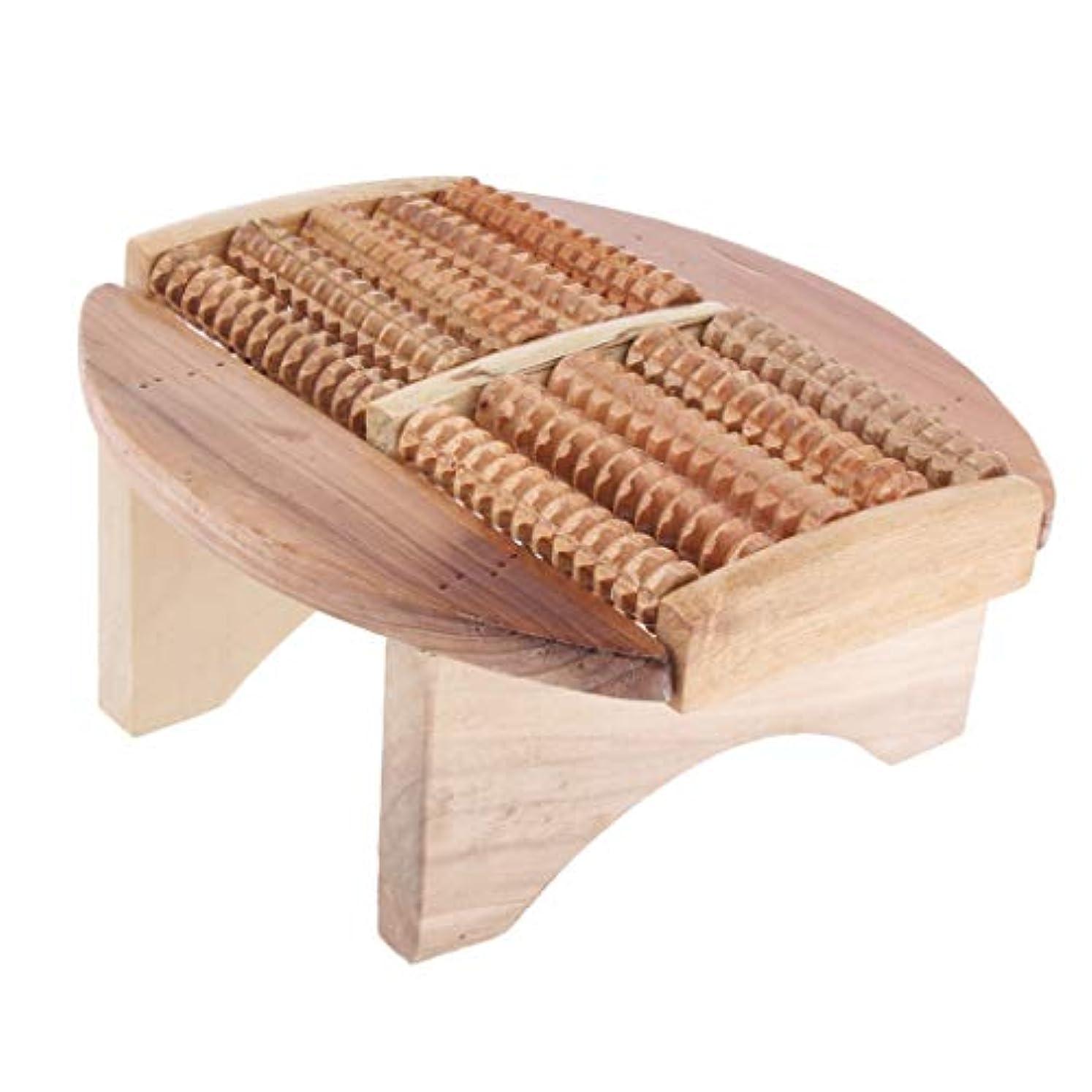 障害慣れている宣伝Baoblaze フットマッサージスツール 木製 足湯ステップ マッサージ スツール SPA