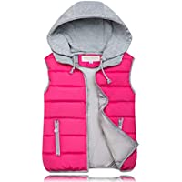 Women Cotton Vest Female Trade Short Paragraph Warm Vest - Rose Red M
