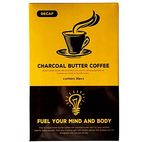 MCTオイル 配合 バターコーヒー カフェインレス(1.3g×30包) ケトコーヒー チャコールバターコーヒー… (デカフェ)