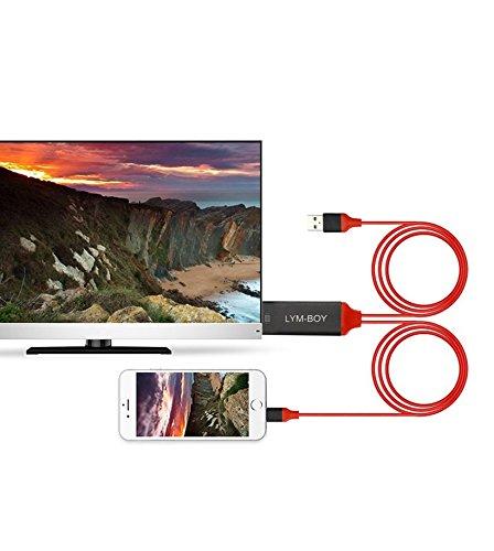 Energy Lightning to HDMI 変換ケーブル iPhone画面をTVに転送 iPhone テレビ接続ケーブル 充電もできる 変換アダプタ プラグアンドプレイ HD1080P 高解像度 iOS11対応 設定不要