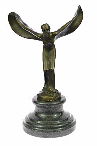 素晴らしいロールスロイスエクスタシー、置物-JPyrd-1236-インテリアグッズギフトの手作りブロンズ彫刻像マスコット - スピリットリアルブロンズ
