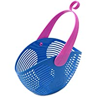 ARYA バスケット 持ち手付きカゴ イタリア製 (コバルトブルー)