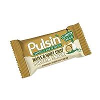 ?カエデとホエーさわやかなタンパク質スナック50グラム (Pulsin) (x 4) - Pulsin' Maple and Whey Crisp Protein Snack 50g (Pack of 4)