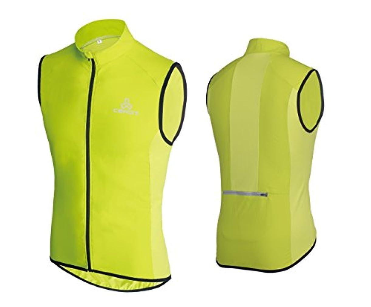 無秩序恥ずかしい絶壁Ceroti ウインドブレーカー ベスト 袖なし ノースリーブ 防風 サイクリングベスト スポーツウェア メンズ