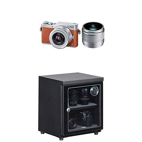 パナソニック ミラーレス一眼カメラ ルミックス GF9 ダブルズームレンズキット 標準ズームレンズ/単焦点レンズ付属 オレンジ DC-GF9W-D + HAKUBA 電子防湿庫 E-ドライボックス 40リットル KED-40セット