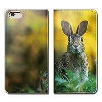 (ティアラ) Tiara iPhone SE iPhoneSE スマホケース 手帳型 ベルトなし アニマル うさぎ ウサギ 兎 癒し 手帳ケース カバー バンドなし マグネット式 バンドレス EB288020086504