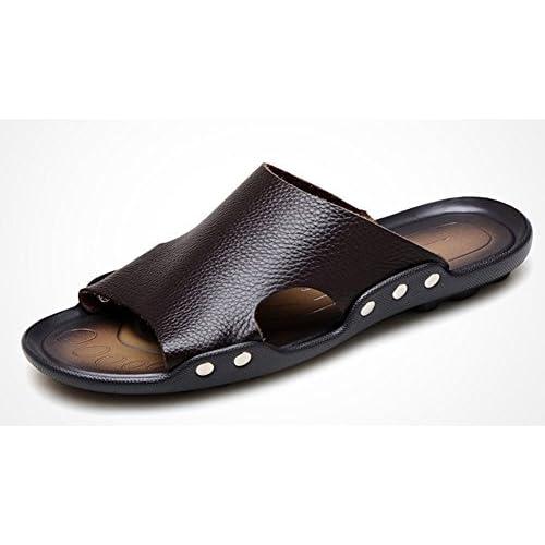(チェリーレッド) CherryRed メンズ 運動靴 スポーツサンダル ビーチサンダル ファション 快適 スリッパ 革 カジュアル お出かけ 防滑 通勤 通学 旅行 40 ブラウン
