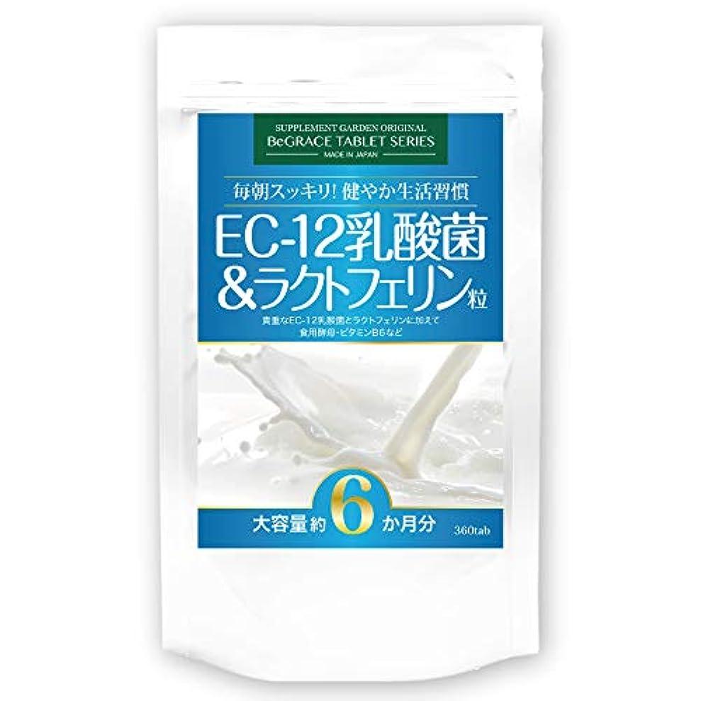 単独で極めて侵略EC-12乳酸菌&ラクトフェリン粒 大容量約6ヶ月分/360粒(EC-12乳酸菌、ラクトフェリン、ビール酵母、ホエイプロテイン、ビタミンB6)