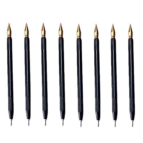 8 個スクラッチペン ゴシレ Gosear スクラッチアートペン スクラッチ専用ペン のデュアルチップスクラッチアートスクラッチペンぬりえスタイラススクラッチ紙アートツール