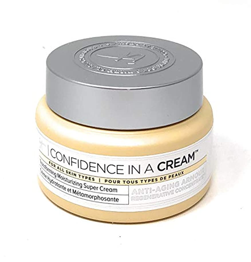 壊滅的な使役荷物It Cosmetics Confidence in a Cream Moisturizer 2 Ouncesクリームモイスチャライザー