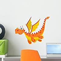 Flying Dragon Wall Decal by Wallmonkeys Peel and Stick Graphic (18 in W x 15 in H) WM36372 [並行輸入品]