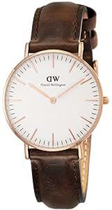 [ダニエルウェリントン]Daniel Wellington 腕時計 Classic Bristol ホワイト文字盤 革ベルト 0511DW レディース 【並行輸入品】