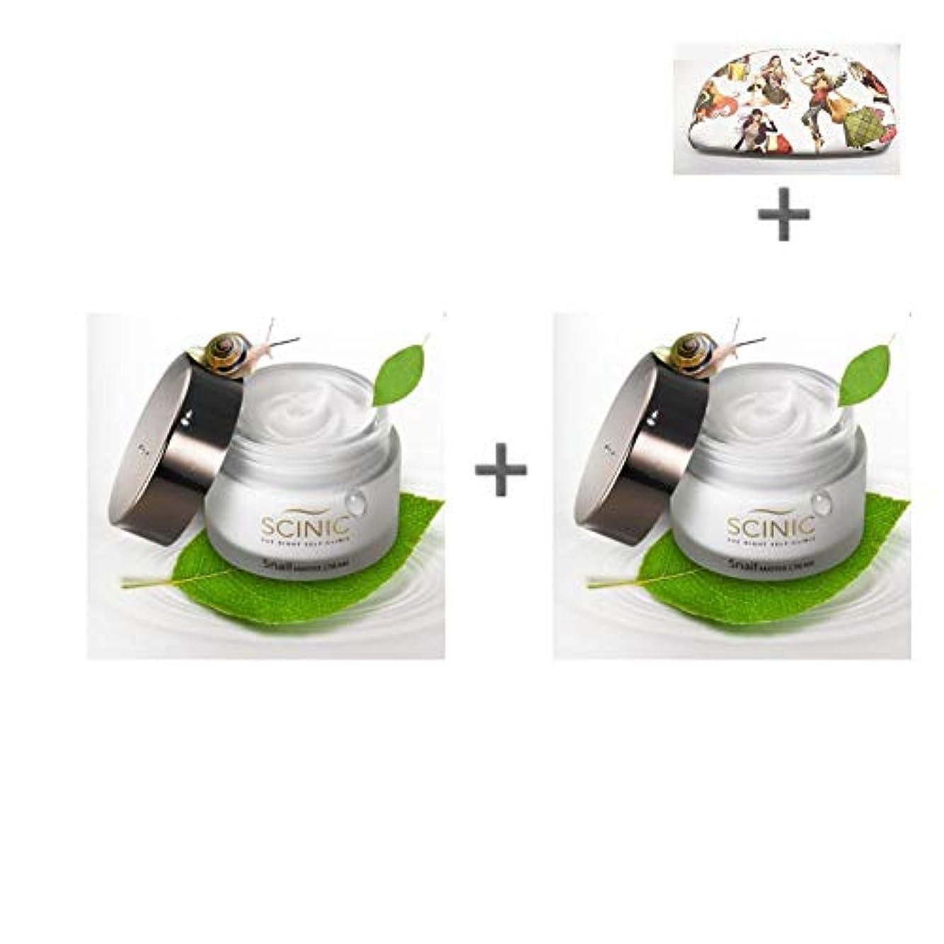 謝罪する不十分信頼性[サイニク] Scinic サイニク カタツムリクリーム ぷりぷり モチーフ肌 保湿 栄養 クリーム 50ml 1+1 / Scinic Snail Cream [海外直送品][並行輸入品]