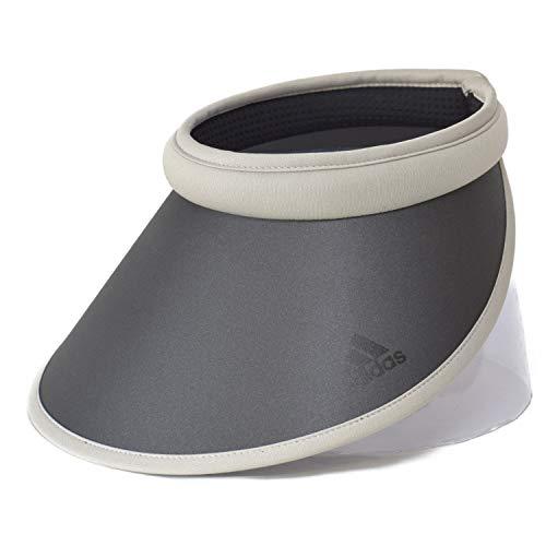 (アディダス) adidas バイザー クリップバイザー サンバイザー 帽子 レディース メンズ ユニセックス ハット 311201 UPF50 日除け 紫外線対策 UVケア スポーツ ゴルフ ウォーキング ファッション ネット通販 オールシーズン(グレー)