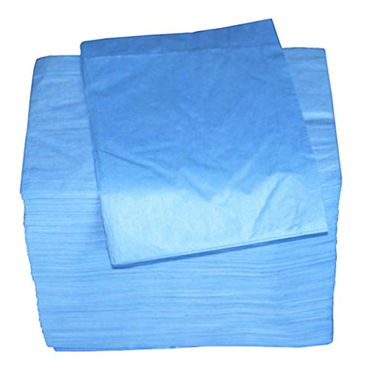 犠牲プロジェクター君主制sharprepublic マッサージ テーブルシーツ 使い捨て 安全衛生 約100個セット 全2色 - 青