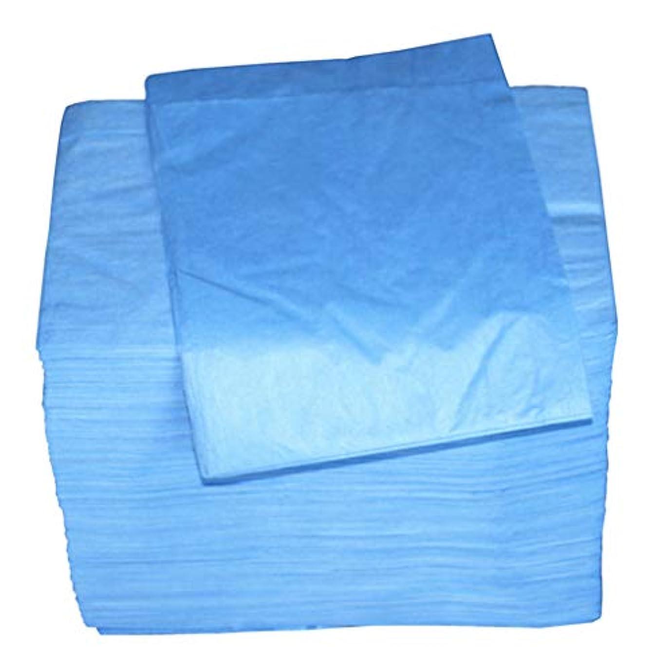 勉強する八百屋ひねくれたマッサージ テーブルシーツ 使い捨て 安全衛生 約100個セット 全2色 - 青