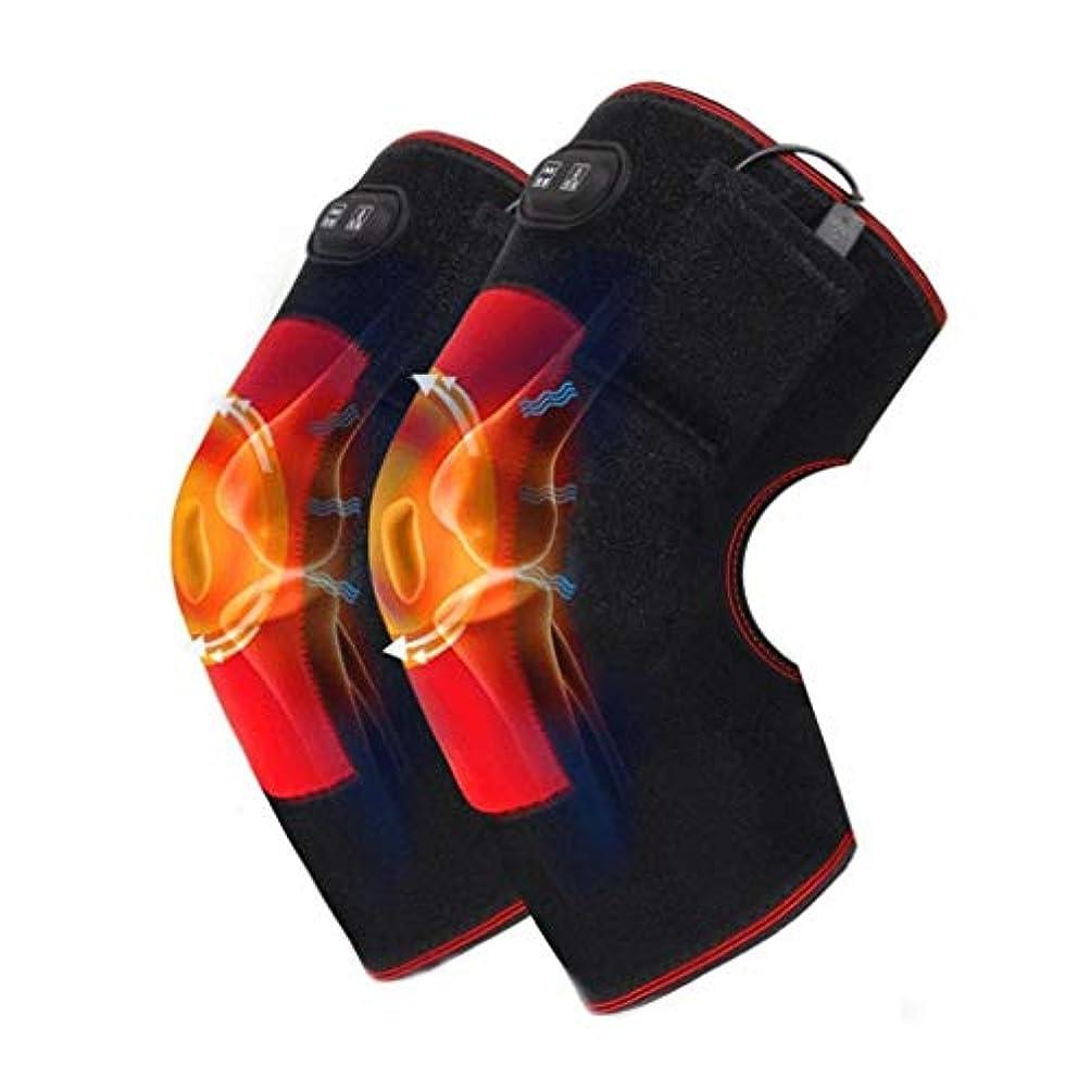 リズミカルな大惨事マスク膝圧迫スリーブ、膝巻き式温熱パッド、関節炎、慢性関節痛、腱炎、膝脱臼、涙靭帯を効果的に緩和できる