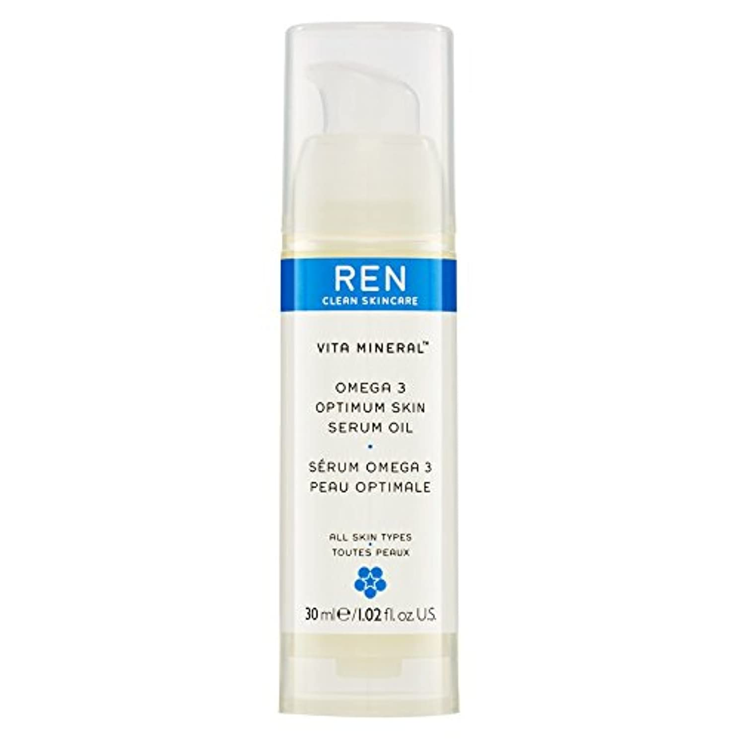 産地軽減する協会Renヴィータミネラル?オメガ3の最適な肌の血清オイル30ミリリットル (REN) (x6) - REN Vita Mineral? Omega 3 Optimum Skin Serum Oil 30ml (Pack of 6) [並行輸入品]