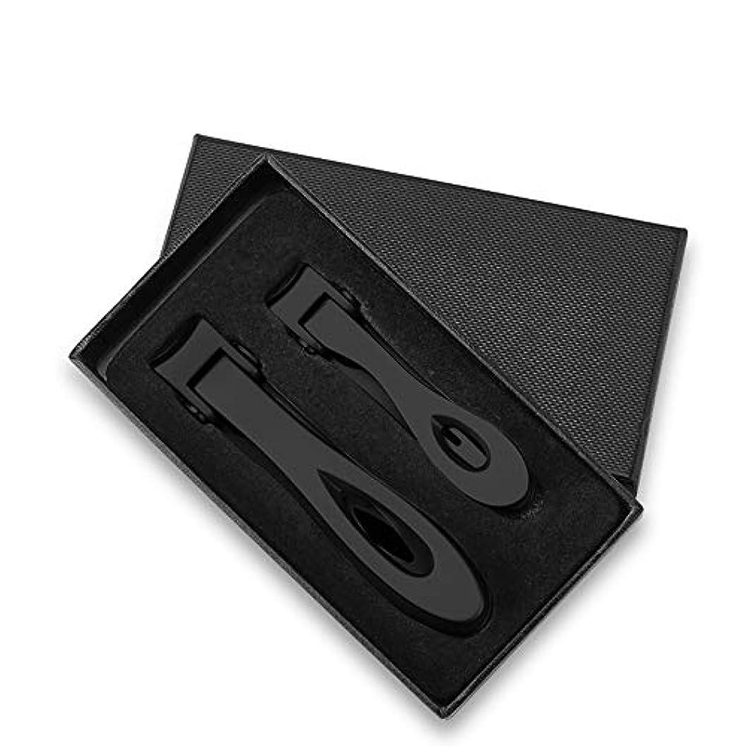 ビジター派生する序文kaixi ステンレス鋼の広い口の爪切りマニキュアセット大人の大きな爪切りマニキュアツールシルバーブラック