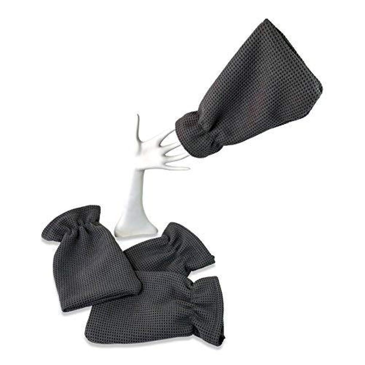 ルート結婚建物4パックwaffletuffタオルHand Mitts – Theタオルthat fits like a glove – マイクロファイバータオルカバー手 – Washes without Soap – Clean車または...