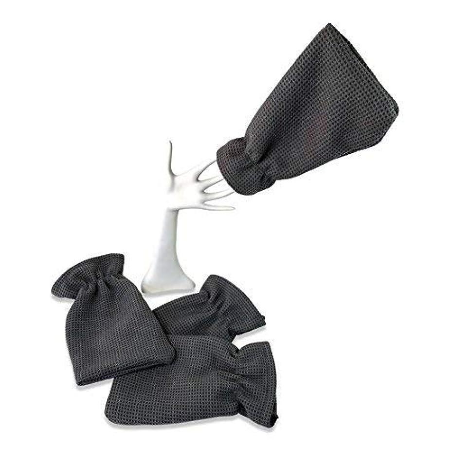 代表論争的マイクロ4パックwaffletuffタオルHand Mitts – Theタオルthat fits like a glove – マイクロファイバータオルカバー手 – Washes without Soap – Clean車または...