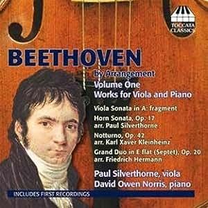 ベートーヴェン:ヴィオラとピアノのための編曲集 第1集