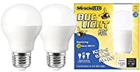 Miracle LED Yellow Bug Light MAX - Replaces 100W - A19 Outdoor Bulb for Porch and Patio - 36 Pack (604996) by MiracleLED
