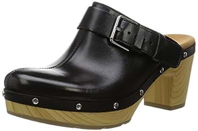 [クラークス] Clarks サンダル Ledella York 26117554 Black Leather (ブラックレザー/UK 025)