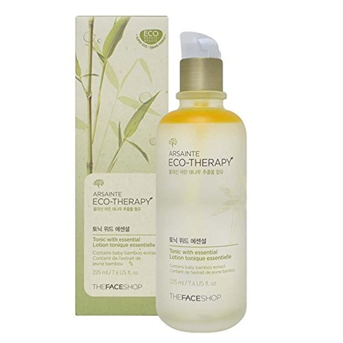 粗い上がる肖像画The Face shop Arsainte Ecotheraphy Tonic with essential Big Size 225ml [並行輸入品]
