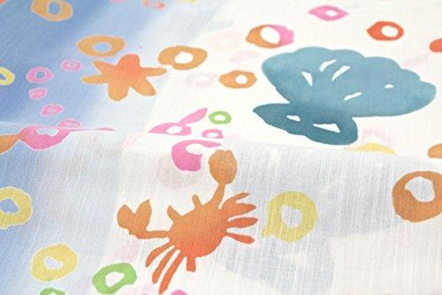 (ツモリチサト)tsumorichisato レディース浴衣 ブランド ツモリチサト 白 ホワイト 海 貝 水玉 綿