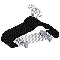 IEOKE ズボンハンガー スカート 強力クリップ 頑丈 洗濯 物干し 多機能 衣類ハンガー 省スペース 跡がつかない 12本セット EK1028 (ブラック)