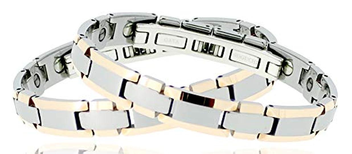 式ドキドキ君主制◆野口医学研究所認証 GAYAゲルマニウム ブレスレット(二色使い)女性用