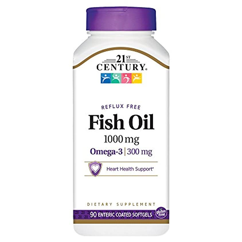 大声ででも恥ずかしい21st Century Health Care, Fish Oil, 1000 mg, 90 Enteric Coated Softgels