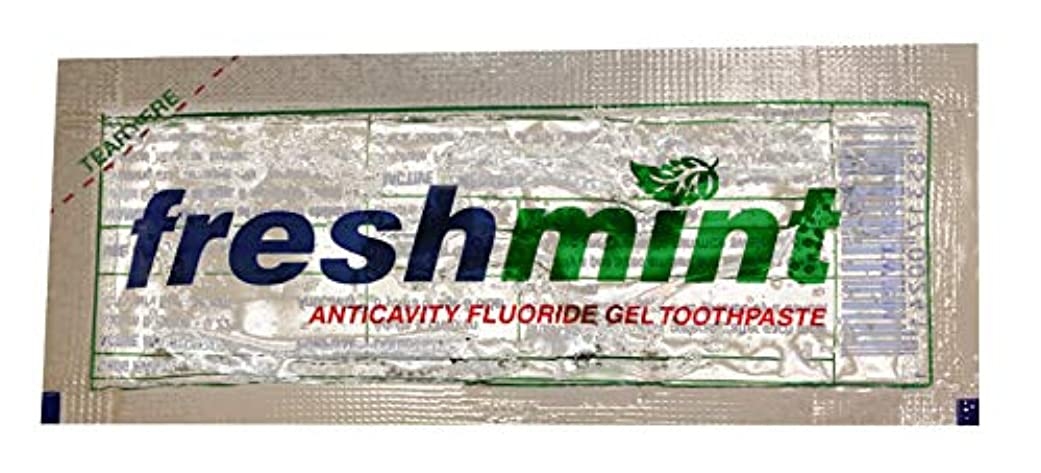明るい比類なき勝者Freshmint Single use Clear Gel Toothpaste-packet Case Pack 1000 by Freshmint [並行輸入品]