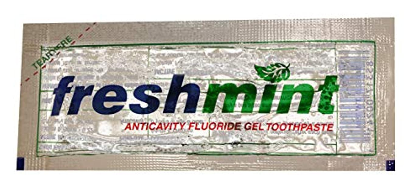 突然の変更可能有利Freshmint Single use Clear Gel Toothpaste-packet Case Pack 1000 by Freshmint [並行輸入品]