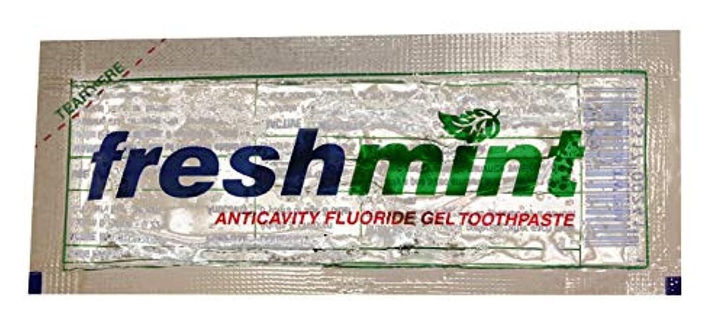 引き出し抑制する真珠のようなFreshmint Single use Clear Gel Toothpaste-packet Case Pack 1000 by Freshmint [並行輸入品]