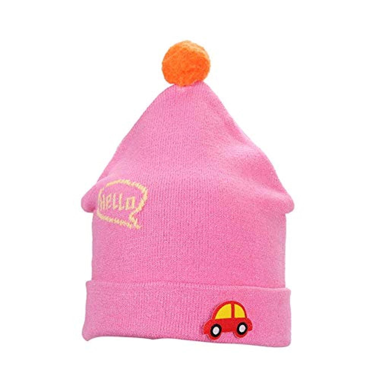 crazystore123 ウールキャップ ベビーキャップ ベビーハット 秋と冬 防寒 保温 ニット帽 子供用帽子 小車 折りたたみ式 0-1Yの赤ちゃん(4色オプション)