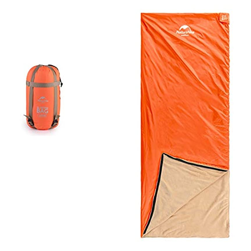 永久に統合する裏切るYIJUPIN キャンプの寝袋 - 封筒軽量の防水防水で快適なサック - 2シーズンの旅行キャンプのハイキングアウトドアアクティビティ (色 : オレンジ, サイズ : 190cm)