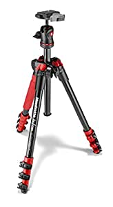 Manfrotto コンパクト三脚 Befree アルミ 4段 ボール雲台キット レッド MKBFRA4R-BH