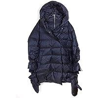 Zara Women Down Puffer Coat with Wraparound Collar 8073/733 Blue