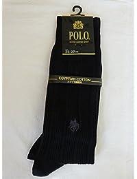 グンゼ POLO 紳士 ポロ 高級エジプト綿混 ソックス PBD202 026 ブラック