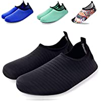 Wanvego Quick Dry Slip-on Barefoot Skin Yoga Socks Aqua Water Shoes for Beach Surf Swim Outdoor Sport