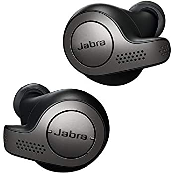 Jabra 完全ワイヤレスイヤホン Elite 65t チタンブラック Amazon Alexa搭載 BT5.0 ノイズキャンセリングマイク付 防塵防水IP55 2台同時接続 2年保証  北欧デザイン 【国内正規品】 100-99000000-40