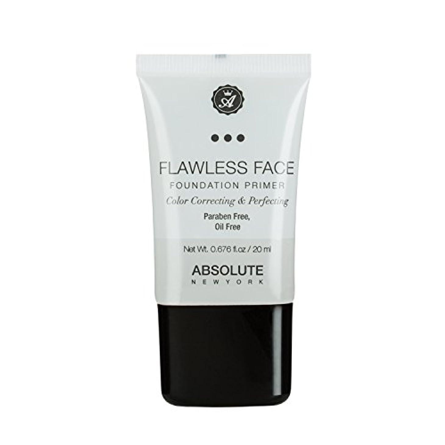 緩やかなユニークな足(3 Pack) ABSOLUTE Flawless Foundation Primer - Clear (並行輸入品)